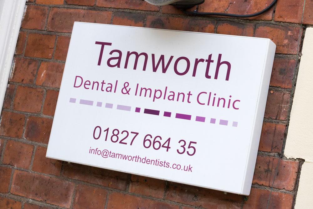 Tamworth-Dental-tamworth-sign